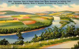 Pennsylvania Panorama View Of French Azilum From Marie Antoinette From  Sulli...