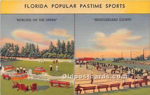 Shuffleboard Courts Florida, FL, USA Shuffelboard Unused