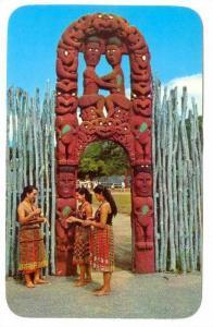 Maori Girls at Whakarewarewa, New Zealand, 40-60s