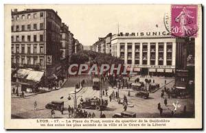 Old Postcard Lyon Square Quartirer Center Bridge Guillotiere one of the most ...