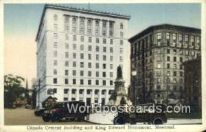 Montreal Canada, du Canada Canada Cement Building, King Edward Monument  Cana...