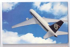Polish Airlines LOT Boeing 767 Jet Aircraft Vintage Aviation Postcard Airplane