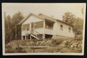 Olsen's Cottages Lake Avalon Hillman Mich 1946 Real Photo Post Card