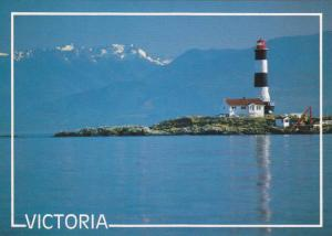 Scenic View, Lighthouse at Race Rocks, Victoria Harbour, Mt. Baker, Victoria,...