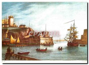 Postcard Modern lithography Britain Old Brest harbor entrance of Chamouin