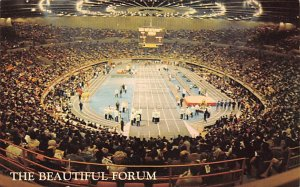 Interior of the Forum Used for Trackmeets Track and Field Unused