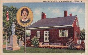 Jennie Wade House and Monument Gettysburg Pennsylvania