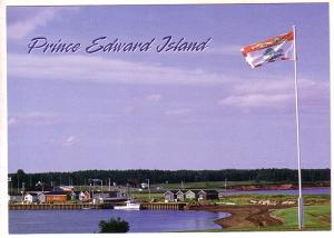 Flag at Fishing Village, Prince Edward Island. 5X7in Oversize