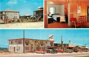 Autos Laguna Beach Florida Mid Century Furniture Periwinkle 1950s Postcard 254