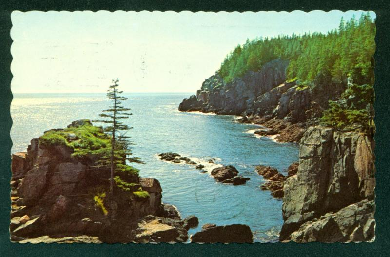 Cliffs at West QUODDY HEAD MAINE Coastal Scene Ocean Vintage Postcard