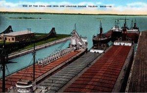 Ohio Toledo One Of The Coal and Iron Ore Loading Docks 1947