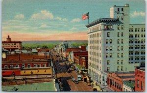 Albuquerque, New Mexico Postcard CENTRAL AVENUE, Looking West Linen 1948 RPO