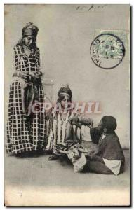 Old Postcard Folklore Small merchant North Africa