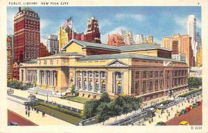 New York City, Public Library, auto cars