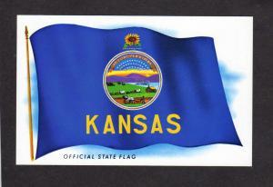 KS Kansas State Flag Seal and Crest Postcard