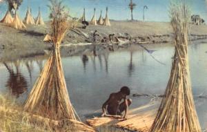 Pakistan Jute Husking 1964 Postcard