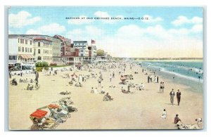 Postcard Bathers at Old Orchard Beach, ME Maine J52