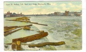 Upper St. Anthony Falls, Steel Arch Bridge, Minneapolis, Minnesota, PU-1911