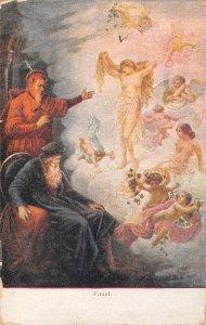US3566 Faust Painting Angels Postcard poet art poetry goethe