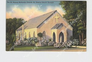 PPC POSTCARD GEORGIA ST. SIMONS ISLAND METHODIST CHURCH EXTERIOR