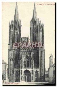 Old Postcard Coutances La Cathedrale