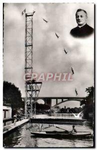 Modern Postcard of Diving & # 39Abbe Simon 1957 International Cup nataton Row...