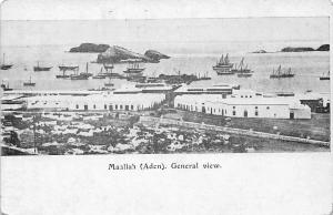 Yemen Maallah (Aden) Maalla Ma'alla General View Boats Port Harbour