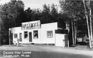 F36/ Crosslake Minnesota RPPC Postcard c1940s Island View Lodge Roadside