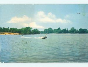 Pre-1980 BOAT & WATER SKIING ON SILVER LAKE Dover Delaware DE t5378