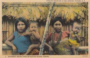 Tipos de Indios en la Isla Azucar , Panama , 30-40s