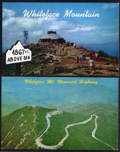 (2) New York Whiteface Mountain Summit House - Aerial View Chrome