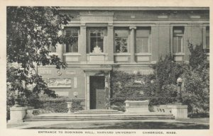 CAMBRIDGE, MA, 00-10s; Entrance to Robinson Hall, Harvard University