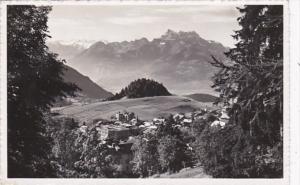 Switzerland Leysin La Boule de gomme et les Dents du Midi 1954 Photo