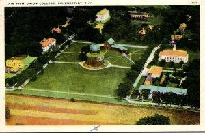 New York Schenectady Union College Aerial View 1941