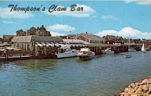 11797  MA Harwich 1960's   Thompson's Clam Bar  Dockside Restaurant