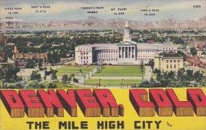 The Mile High City Denver Colorado 1949