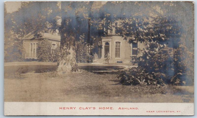 Ashland, Kentucky RPPC Real Photo Postcard HENRY CLAY'S HOME c1910s Unused