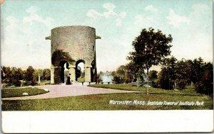 Worcester, Massachusetts, MA, Institute Park & Tower, Vintage Postcard