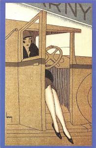 France Paris Fashion Invitation Cover Poster1925 Nostalgia Reprint
