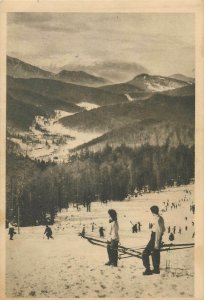 Romania Predeal Clabucet skiing resort postcard