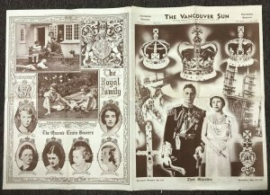 VANCOUVER, British Columbia, 1937; Coronation Souvenir Newspaper