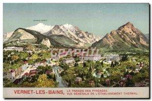 Old Postcard Vernet les Bains Le Paradis Des Pyrenees General View of the spa...