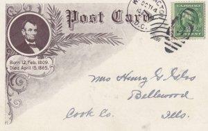 ABRAHAM LINCOLN postcard , 00-10s