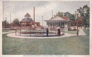 Michigan Petoskey Scene In Mineral Springs Park 1920