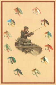 Fishing Fly Fisherman and Variety Of Flies