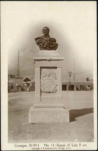 curacao, D.W.I., Statue of Luis Brion (1930s) Capriles RPPC 11