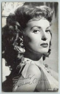 Ranelagh IE Redheaded Actress~Defiant Maureen O'Hara~Arcade Card~In Buffalo Bill