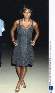 Serena Williams at 2007 New York Zac Posen Show Tennis Press Photo