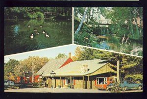 West Rindge, New Hampshire/NH Postcard, The Old Forge Restaurant, Old Mustang