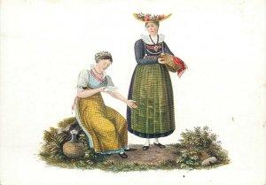 Switzerland swiss early folk costumes ethnic types Zug
